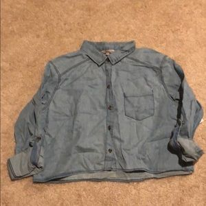 Charlotte Russe chambray buttondown long sleeve